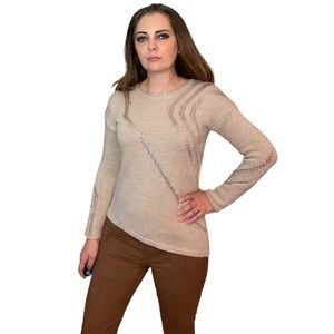 Antonio Melani Beige Wool Alpaca Knit Sweater S